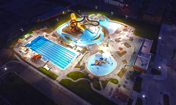 Cascade falls aquatic center waters edge aquatic design for Pool design center